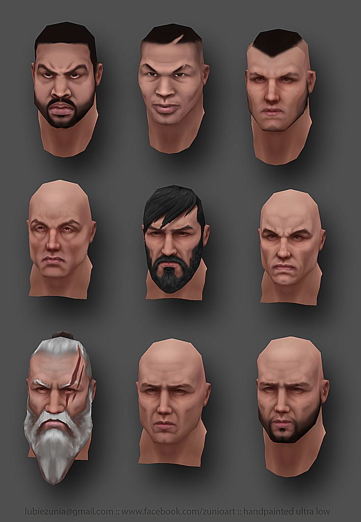 Zunioart - handpainted heads. Ice Cube, Tyson, Schwarzenegger, Willis, Stallone