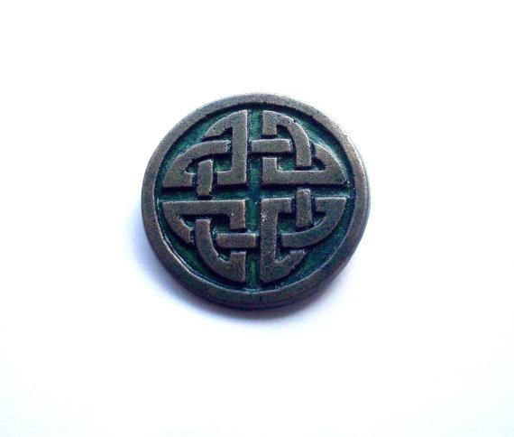 Aged bronze celtic brooch by GelertDesign on Etsy, £6.00