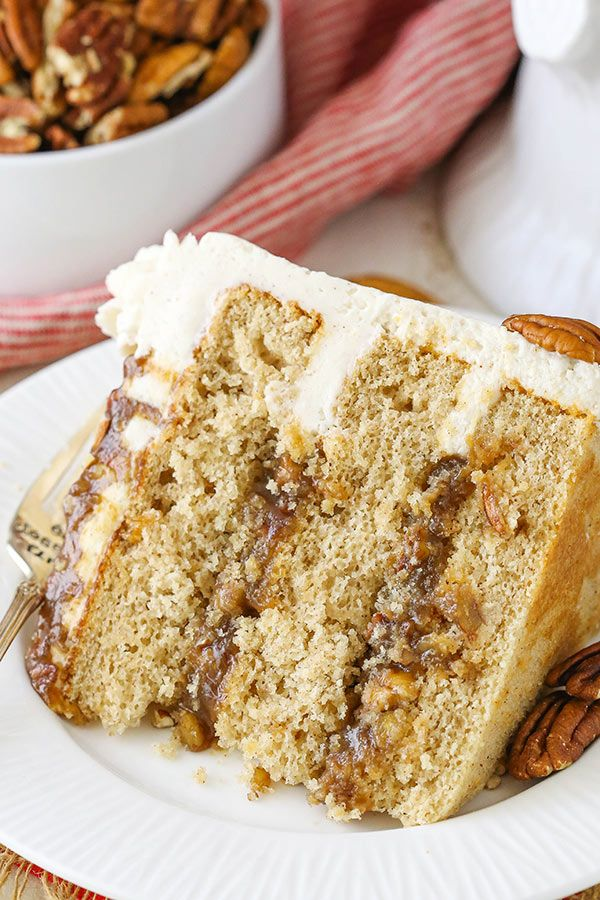 This post is sponsored by Challenge Dairy, but all opinions are my own. This Pecan Pie Layer Cake is made with moist layers of brown sugar cinnamon cake, homemade pecan pie filling and cinnamon frosting! It's a delicious cake reminiscent of eating the classic pie! Now that Halloween has come and gone, it's time to …
