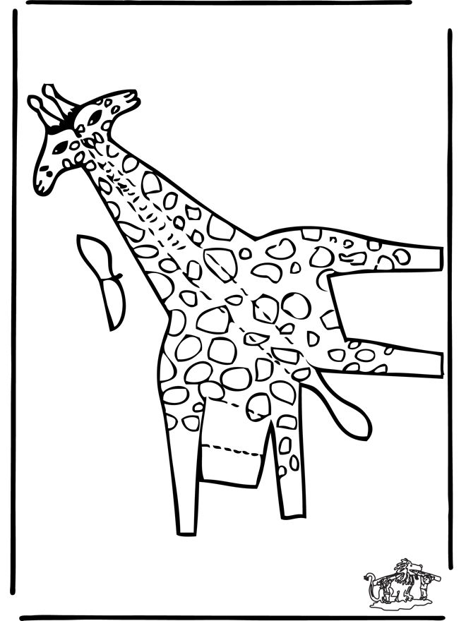 Bouwplaat Giraffe 2