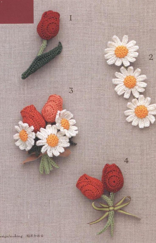 358 besten Crochet Flowers Bilder auf Pinterest | Blumen häkeln ...