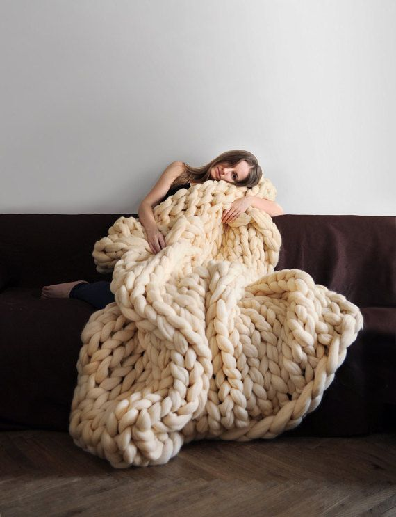 1000 images about chunky knitting on pinterest wool for How to make a big chunky knit blanket