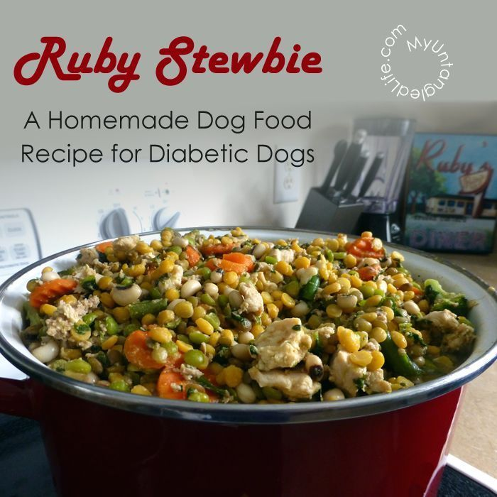 A Homemade Dog Food Recipe for Dogs with Diabetes Read more in: http://lovablepawsandclaws.com/