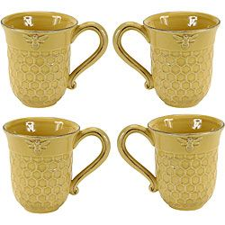 @Overstock - Add country charm to your kitchen decor with a set of bumblebee mugs  Ceramic mugs are available in honey color option  Casual dinnerware features a raised bumblebee on the rim and a honeycomb pattern on the basehttp://www.overstock.com/Home-Garden/Bumblebee-4-piece-Mug-Set/3908749/product.html?CID=214117 KRW              39335.00