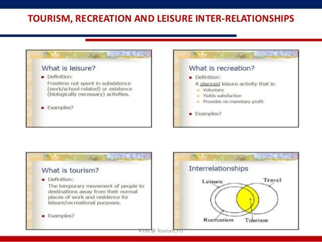 tourism recreation and leisure relationship goals