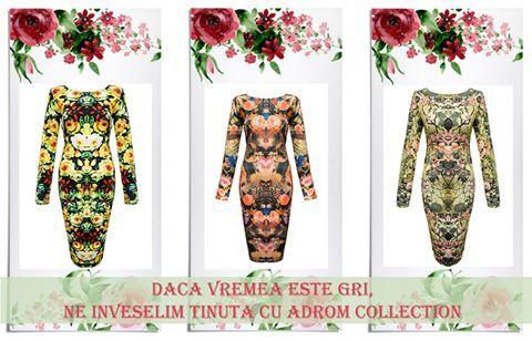 La Adrom Collection au intrat în stoc noi imprimeuri ale rochiei R262. <3 Sunt colorate, ne înveselesc ținutele, iar prețul lor este de doar 25LEI! <3      Comandă acum! Stoc limitat!  www.adromcollection.ro/rochii/50-rochie-angro-r262.html