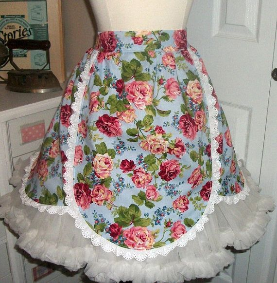 On Sale/retro apron/1950 apron/half by mimisneedle on Etsy