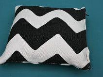 Kissenbezug 35x35, Zick-Zack, Chevron-Stripes