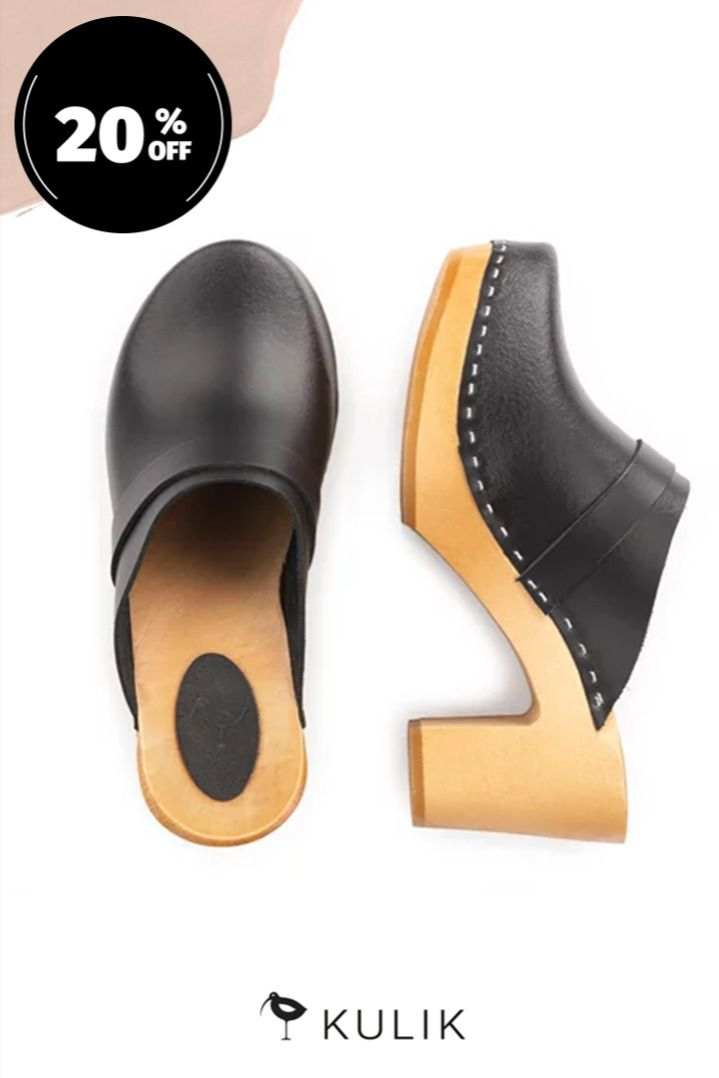 Premium Leather Clogs Spring Sale In 2020 Clogs Leather Clogs Wooden Clogs