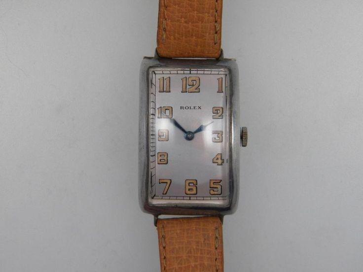Vintage Silver Rolex Watch Circa 1920s