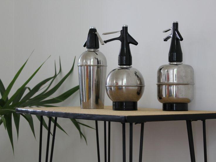 Siphons à eau de Seltz en inox