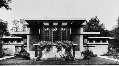 Avery Coonley Playhouse, Frank Lloyd Wright, Prairie Style. River Forest, Illinois. 1912...