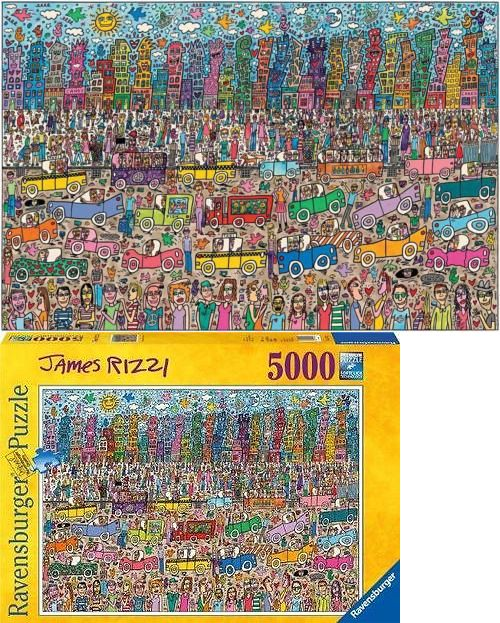 Jigsaw 19183: Ravensburger Puzzle Nothing Is As Pretty As A Rizzi City James Rizzi 5000 #17427 -> BUY IT NOW ONLY: $94.49 on eBay!