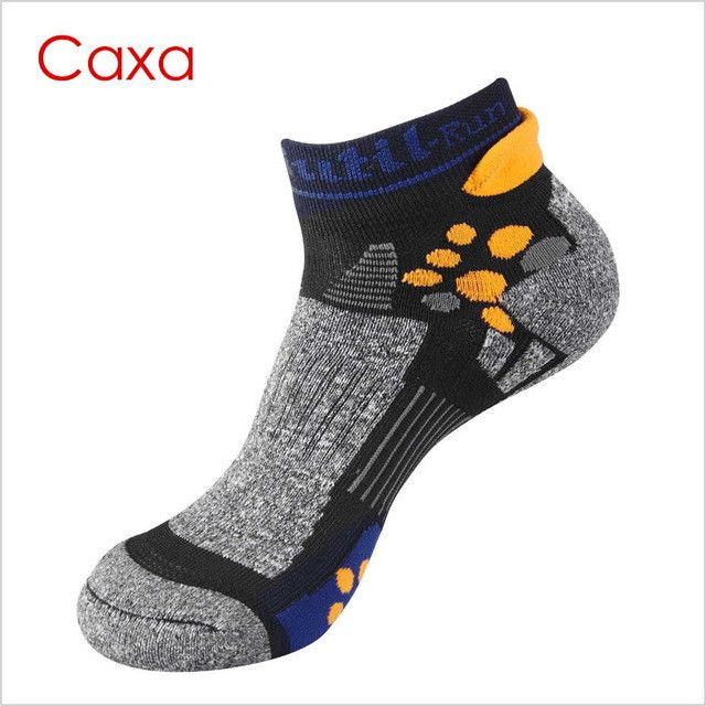 Caxa all season Professional Men Sport Socks Wicking&Bradyseism Running Sock Quick Dry Calcetines climbing Gym Fitness men sock