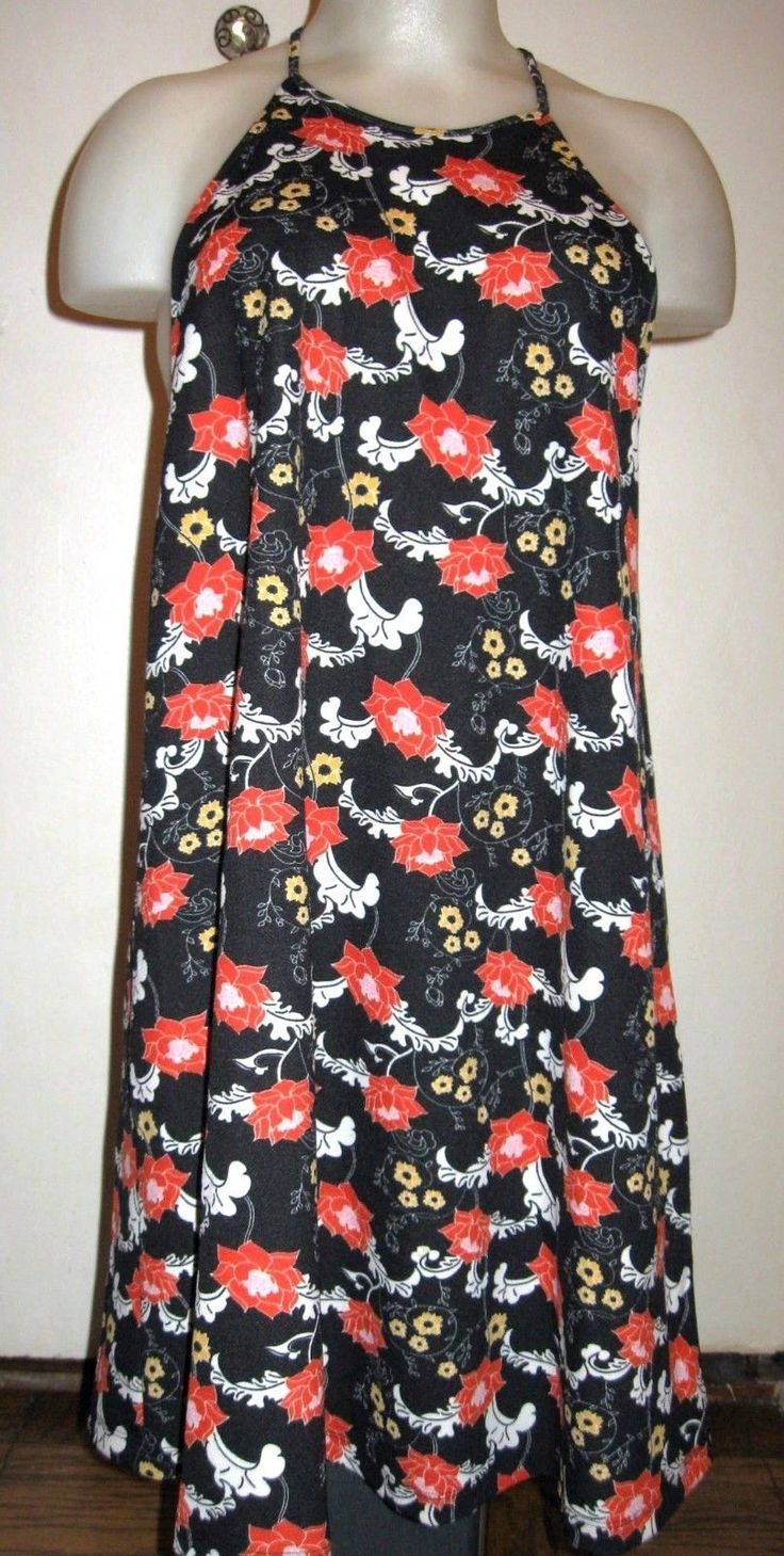 Nice Great  ZARA FLORAL PRINT SWINGY SLEEVELESS A-LINE TRAPEZE DRESS   Sz M 2018 Check more at http://24shopping.gq/fashion/great-zara-floral-print-swingy-sleeveless-a-line-trapeze-dress-sz-m-2018/