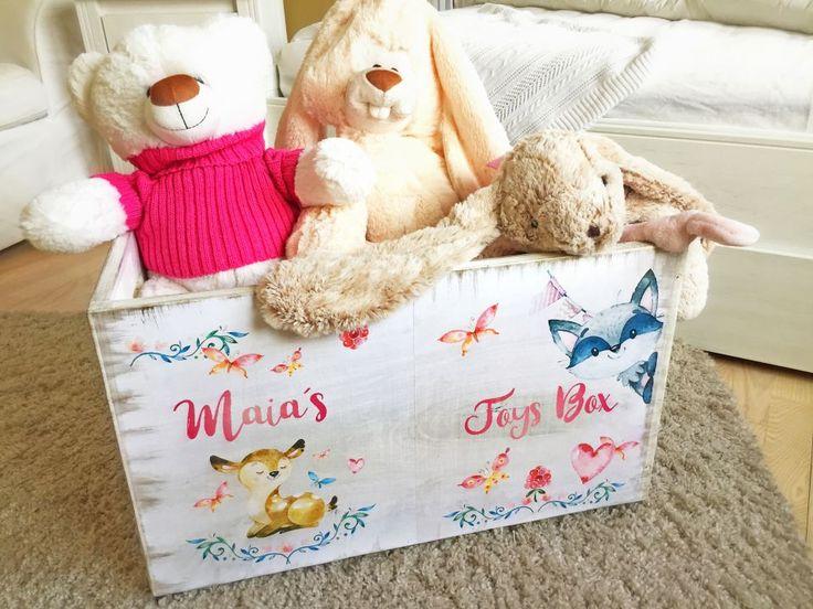 Pink Forest Toys Box - Lada personalizata Jucarii copii