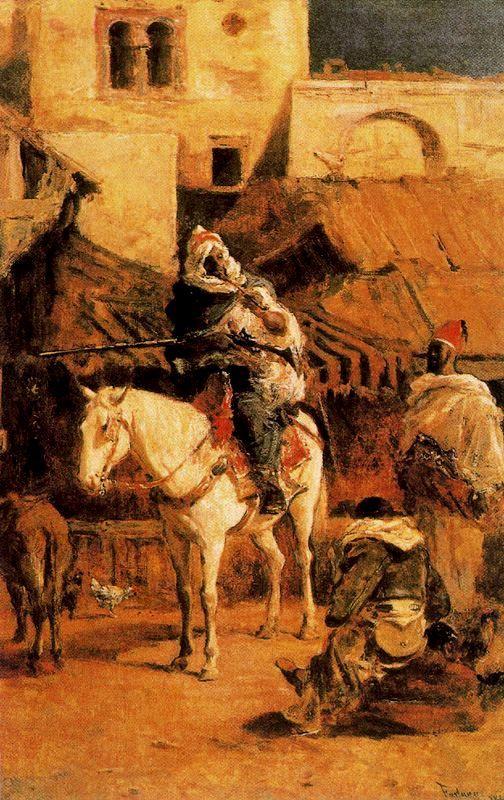 Caballero árabe en Tánger, 1867. Óleo sobre lienzo, 45 x 28.5 cm. Colección privada.