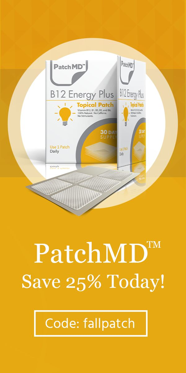 ☑ Better Absorption than Oral Vitamins! ☑ 5,500+ 5-Star Reviews! ☑ Endorsed by Top Doctors & Hospitals ☑ Made in the USA - Get 25% off all orders using the code 'fallpatch'. Shop now and save!
