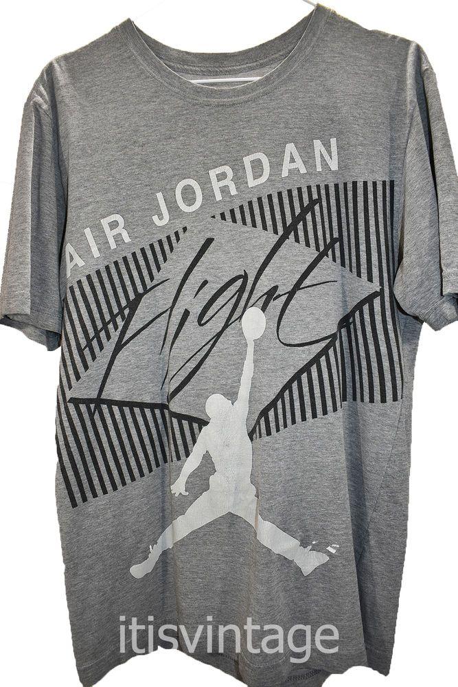 Vintage Retro ? Nike Air Jordan Flight Gray Cotton Blend Short Sleeve T Shirt S | Clothing, Shoes & Accessories, Women's Clothing, T-Shirts | eBay!