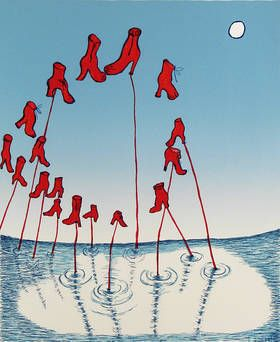Louise_Bourgeois -The Night, 2001 lithograph 20_x_16 inches -edition_of_50