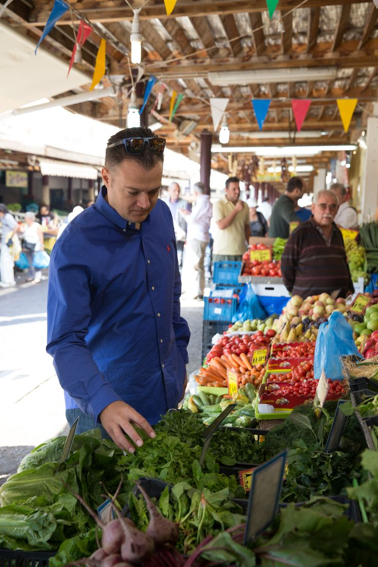 Exploring the market of Athens - Next we visit 'Varvakios', the market in Athens where we choose the freshest ingredients with Chef Asterios Koustoudis. #Athens #Epicurean #Journey #Greece