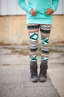 Mint Aztec Leggings