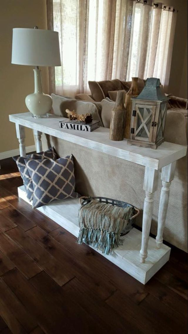 17 Models Diy Sofa Table To Decorating Behind Couch Farmhouse