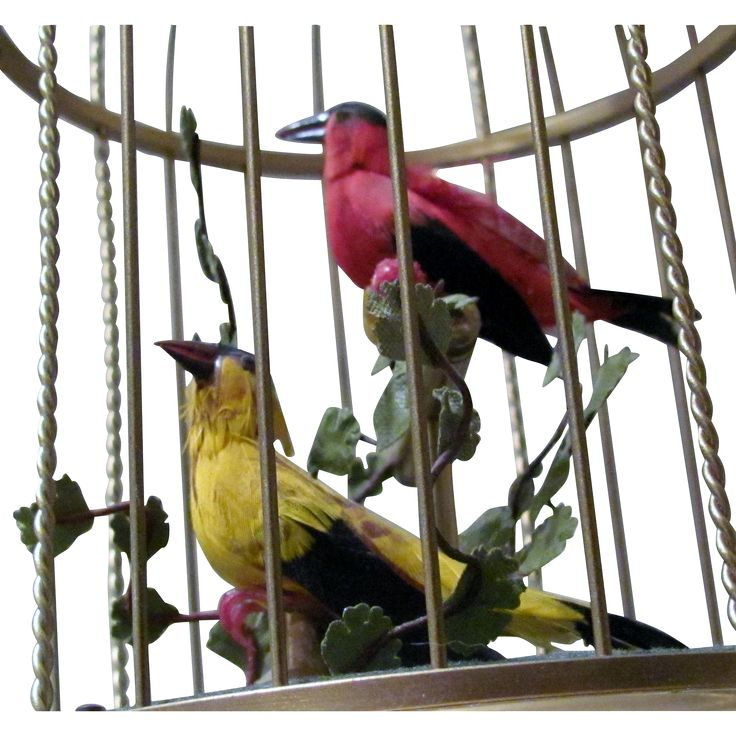 Vintage Karl Griesbaum RARE Double Singing Bird Cage. Perfect Working Condition…
