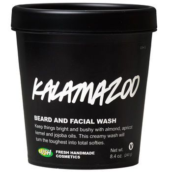 Kalamazoo For washing furry faces  Keep things bright and bushy with this creamy wash for furry faces. Fresh pineapple juice is full of enzymes to cleanse the skin and zap away dirt and oil, while almond oil, jojoba oil and cupuaçu butter soften and tame even the most unruly beard. With the light citrusy scent of Brazillian orange oil and the super soft feeling, you might find your beard has more admirers than ever before!