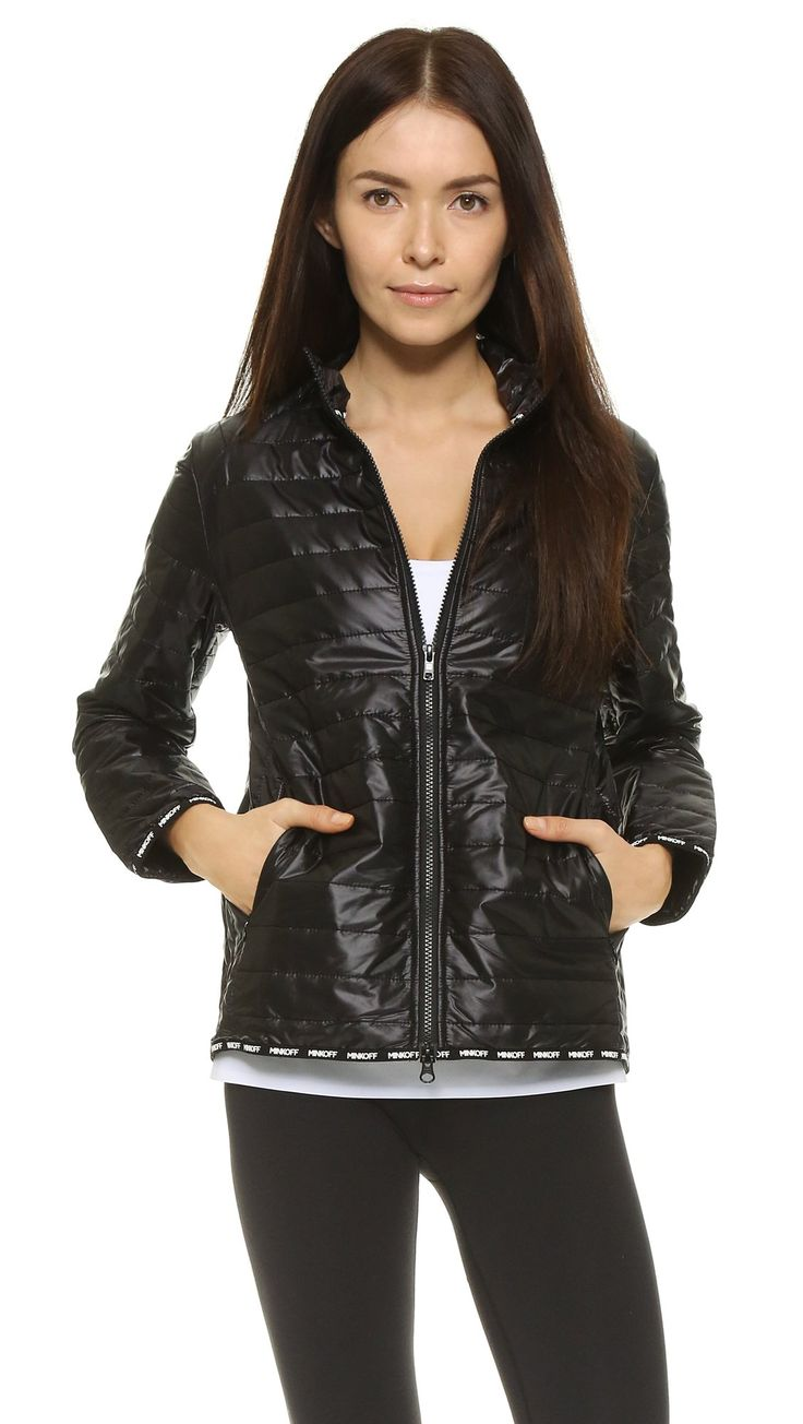 Rebecca Minkoff Women's RM Active Lee Jacket, Black, Small. Technical weave. 60% polyester/40% rayon. Dry clean. Width 24.5in / 62cm, from shoulder.