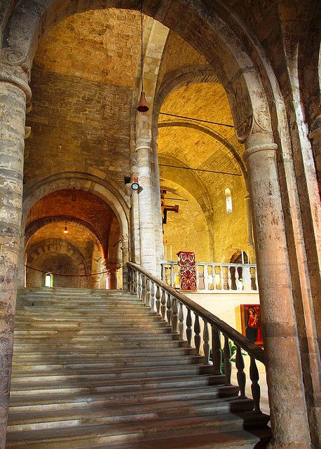 The 12th century Romanesque Cathedral of San Leo, Italy by Anguskirk, via Flickr
