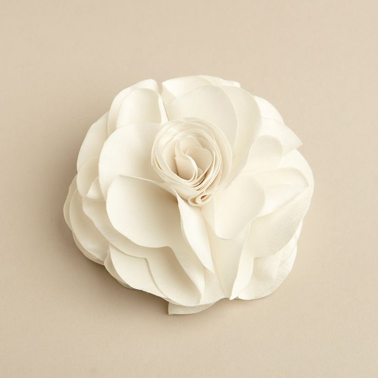 Silk Rose Wedding Hair Clip or Pin - Ivory - The Wedding Faire