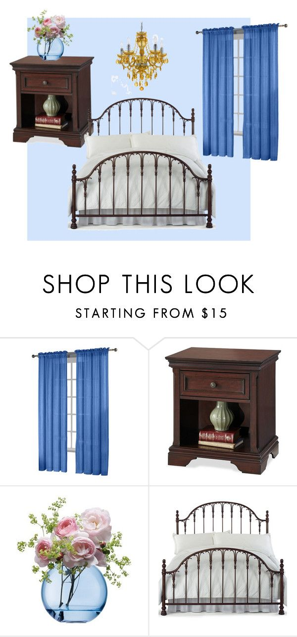 """Bedroom"" by miwandawanda on Polyvore featuring interior, interiors, interior design, home, home decor, interior decorating, Fiesta, LSA International, Hillsdale Furniture and bedroom"