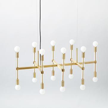 Acrylic Framework Chandelier – Rectangle #westelm