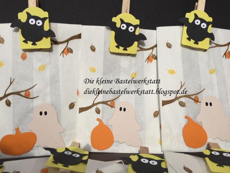 Stampin Up Verpackung Halloween Eule Eulenstanze Kürbis Herbst Blätter Laub Gespenst Fun Fall Zwischen den Zweigen