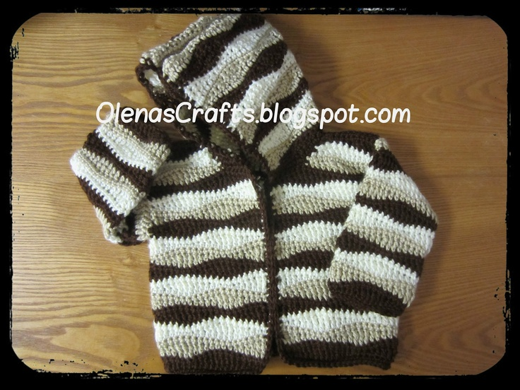 """Free pattern for """"Child's Wavy Hooded Sweater"""" by Olena's Crafts!"""