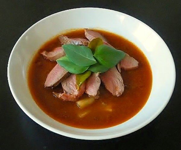 Tasteometer Recipe - Thai Red Curry with Braised Duck Recipe (Kaeng Phed Ped Yang)