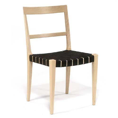 Mimat stol flätad sadelgjord, svart från Bruno Mathsson