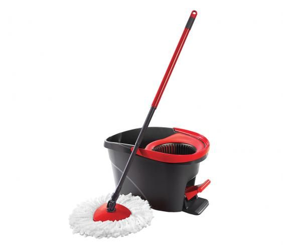 O-Cedar Easywring Spin Mop And Bucket System | With these hardworking, Real Simple-approved products in your cleaning tool kit, your home will be sparkling in no time (sans the extra elbow grease).