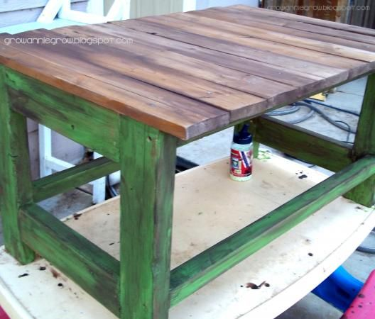 Do It Yourself Home Design: Rustic Reclaimed & Scrap Wood End Table