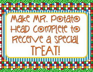 This idea would be perfect for just that right bunch of 4-8th graders.  Mr. Potato Head Behavior Management System