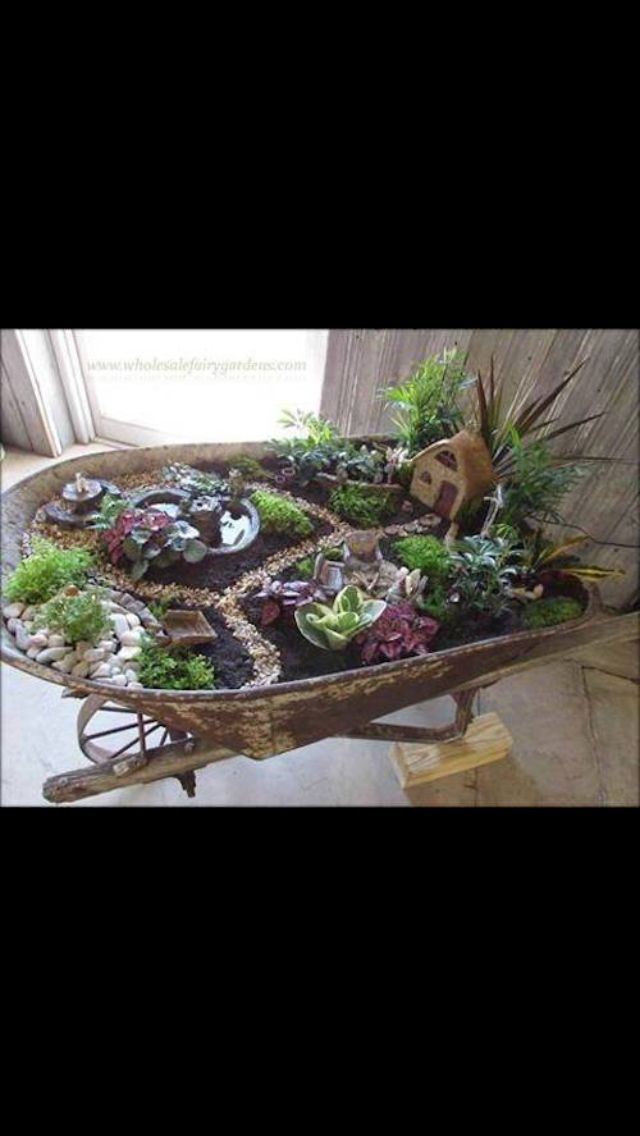Wheel barrow crafts