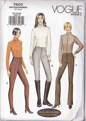 VOGUE 7605 Sew Pattern Equestrain Breeches Riding Pants 12-14-16 | eBay!