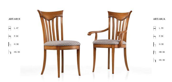 Klasszikus olasz szék 148,149 - www.montegrappamoblili.hu