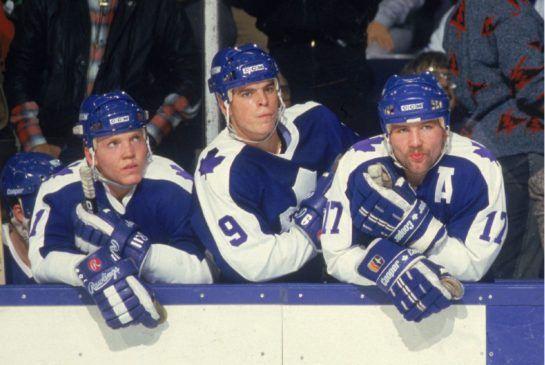 Gary Leeman, Russ Courtnall and Wendel Clark