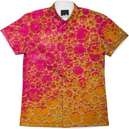Shop Funky Dinosaur HEAT Short Sleeve Workshirt by GrandeDuc | Print All Over Me