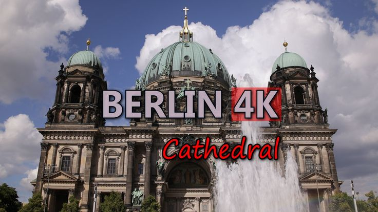 Ultra HD 4K Berlin Travel Cathedral TV Tower Iconic Landmarks German Trip UHD Video Stock Footage