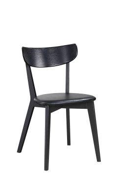Tyylikäs ja laadukas tuoli, jossa istuin keinonahkaa.