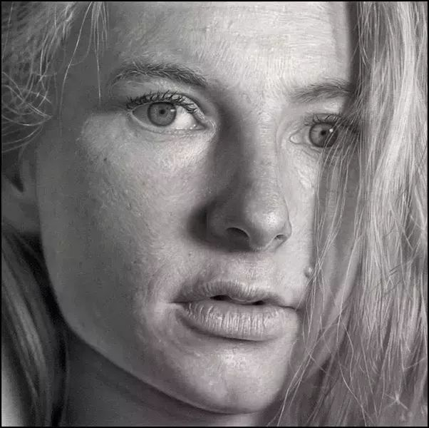 Realistic Potrait by Dirk Dzimirsky - Art Collection