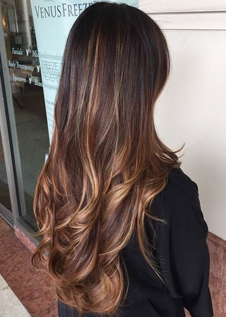 Copper and Golden Blonde Balayage Highlights